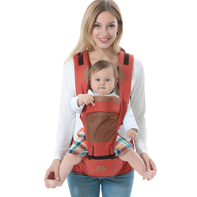 Multifunction Outdoor Kangaroo Baby Carrier With Hood Sling Backpack Infant Hipseat Adjustable Wrap For Carrying Children Backpacks & Carriers Activity & Gear