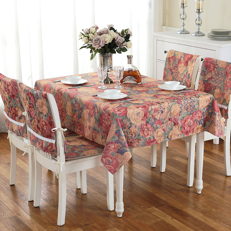 American Country Style Table Cloth Dining Kitchen Table ...
