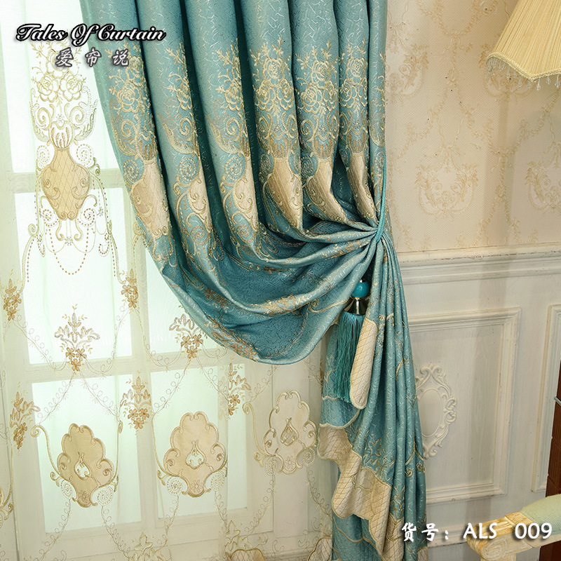 Modern Luxury Curtains For Living Room Bedroom Window ...