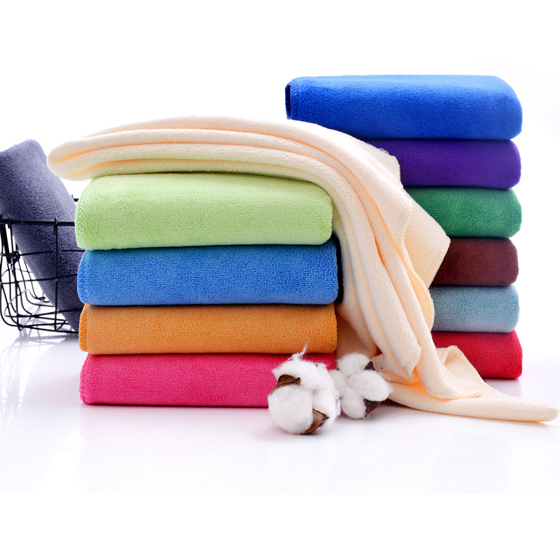 Absorbent Microfiber Bath Towel Quick Drying Hair Towel Washcloth
