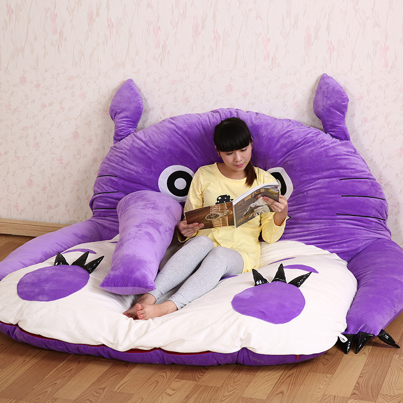 Huge Size Design Cute Soft Bed Totoro Lazy Sofa Bed Sleeping Bag