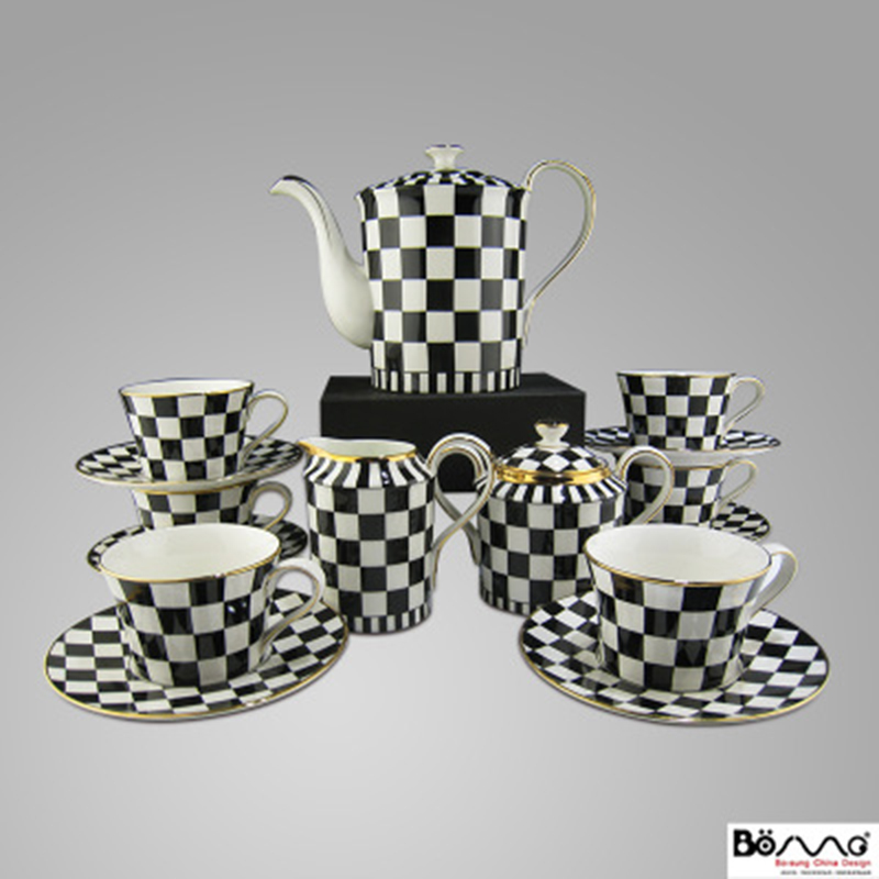 90308b23e 15 post-modern neo-classical European simple European-style model room soft  decoration Italian black and white checkered coffee